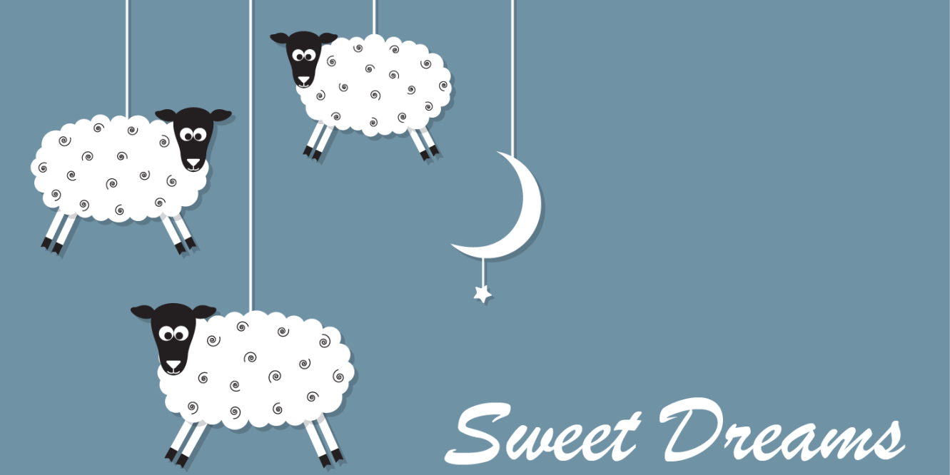 sweet dreams sleeping sheep