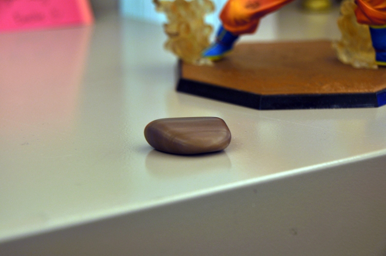 Smooth pebble on blue cross and blue shield of kansas desk