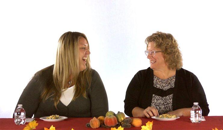 BCBSKS employees try a healthier green bean casserole